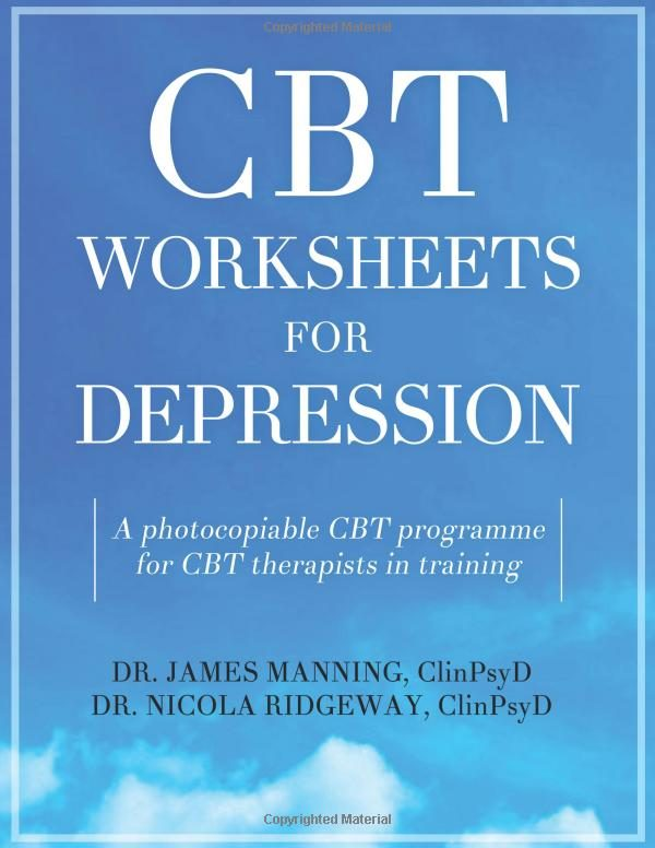 Cover of the book CBT Worksheets for Depression