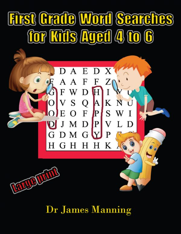 1st grade word search for kids aged 4 to 6 cover