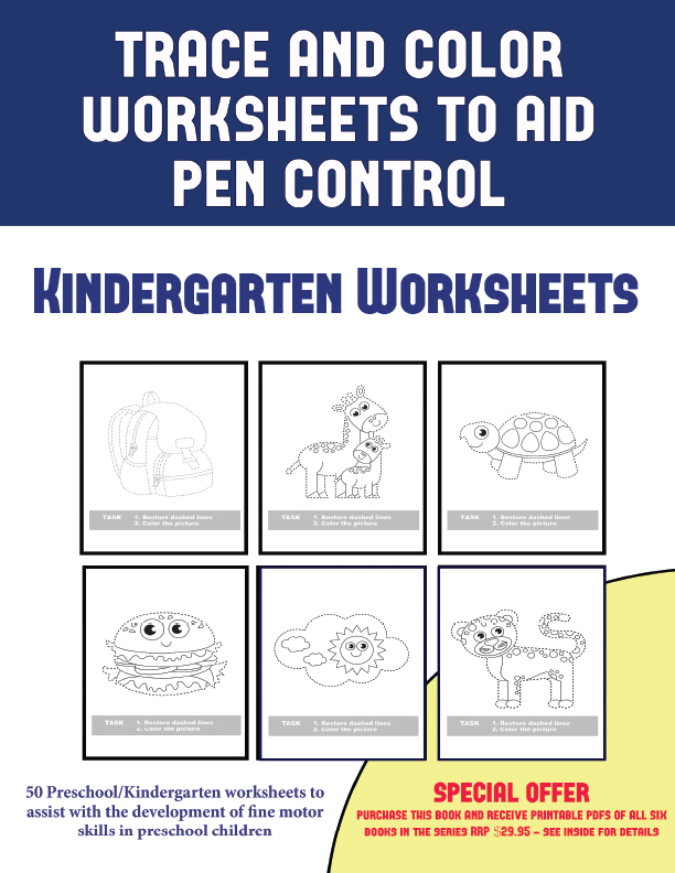 trace and color worksheets