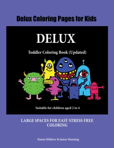 delux coloring book website cover