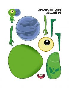 Simple craft work with paper (Alien Maker)1