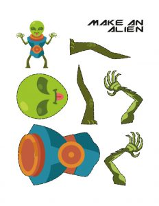 Simple craft work with paper (Alien Maker)2