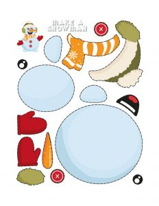 Simple Cut and Paste Activities (Snowman Maker) 1