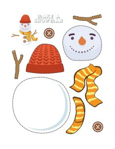 Simple Cut and Paste Activities (Snowman Maker) 2