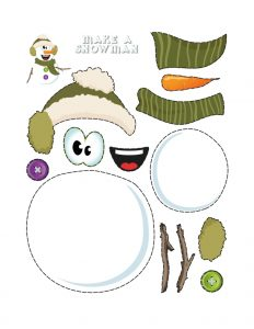 Simple Cut and Paste Activities (Snowman Maker) 3