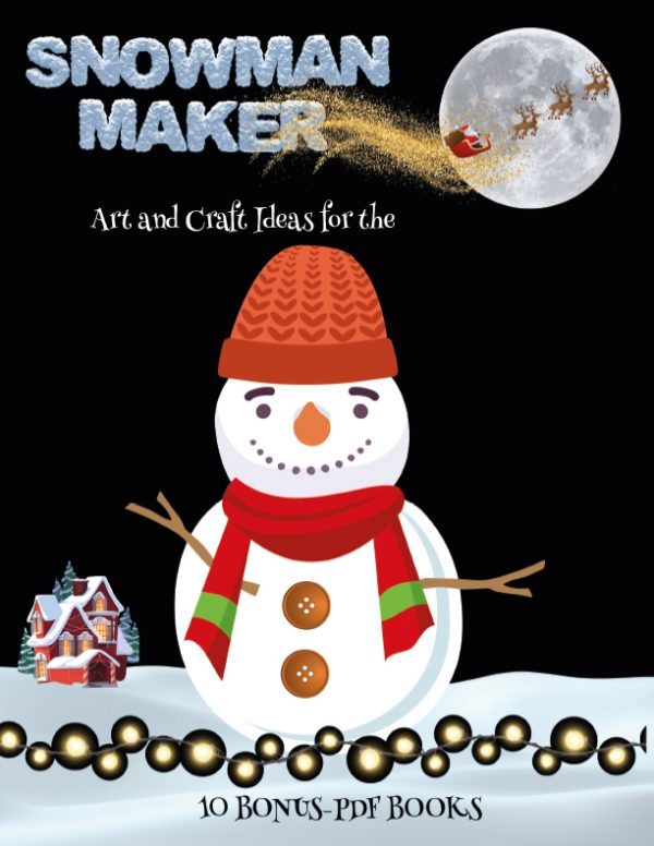 Simple craft work with paper (Snowman Maker)