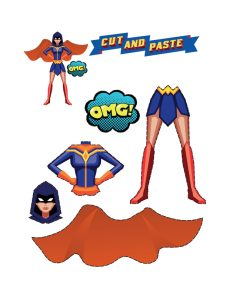 Art and Craft Ideas with Paper(Superhero Maker)
